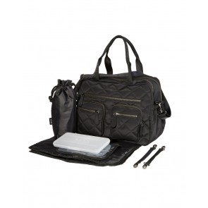 Carry All Black Quilted Nappy Bag by OiOi