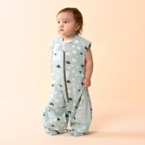 Mint Clouds Sleep Suit Bag (0.3 tog) by ergoPouch