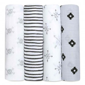 Lovestruck 4-pack Classic Swaddles by Aden and Anais