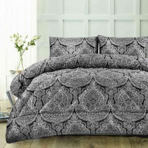 Aria Black Jacquard Comforter 3 Piece