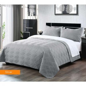 3 Piece Embossed Comforter Set