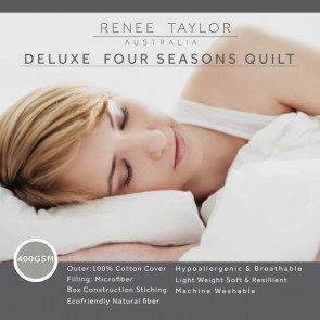 400 GSM Deluxe Four season Quilt with cotton cover by Renee Taylor