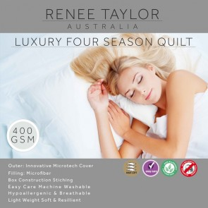 400 GSM Luxury Four season Quilt with Microfibre cover by Renee Taylor