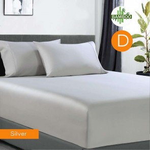 400 Thread Count Bamboo Cotton 1 Fitted King Single Sheet with 2 Pillowcases