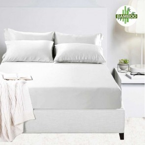 400 Thread Count Bamboo Cotton Fitted Mega Queen Sheet