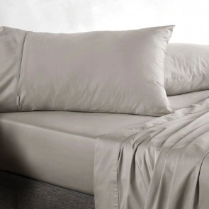 400tc Soft Truffle Standard Sateen Pillowcase Pair by Sheridan