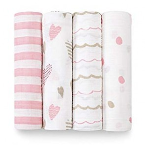 Heartbreaker 4 Pack Classic Swaddle by Aden and Anais