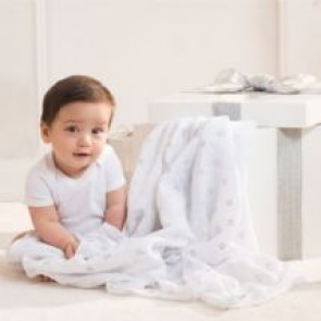 Metallic Silver 3-pack Classic Swaddles by Aden and Anais