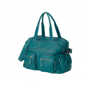 Carry All Turquoise Faux Buffalo Nappy Bag by Oi Oi