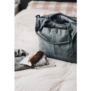 Tote Slouch Denim Grey Nappy Bag by Oi Oi