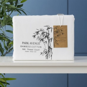 500 Thread Count Natural Bamboo Cotton Mega King Sheet Sets by Park Avenue