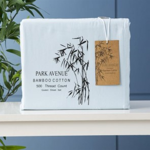 500 Thread Count Natural Bamboo Cotton Super King Sheet Sets by Park Avenue
