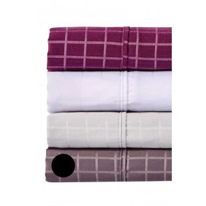 1000tc Dobby Check Queen Sheet Set by Phase 2