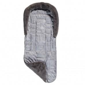 Reversible Cityscape Fleece stroller seat liner by OiOi