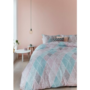 Castillo Pastel Cotton Percale Quilt Cover Sets by Bedding House