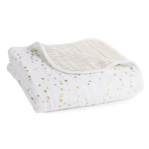 Metallic Gold Charm Classic Muslin Dream Blanket by Aden and Anais