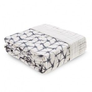 Pebble Shibori Oversized Silky Soft Bamboo Muslin Blanket by Aden and Anais