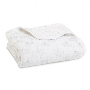 Metallic Silver Deco - Dandelion Classic Muslin Dream Blanket by Aden and Anais