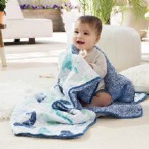 Seafaring Classic Muslin Dream Blanket by Aden and Anais