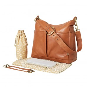Soft Leather 2 Pocket Hobo Nappy Bag by OiOi