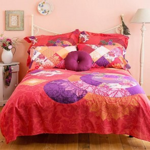 Romantic Patch Quilt Cover Set by Bambury