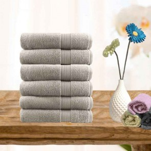 6 Piece Ultra-Light Cotton Hand Towels