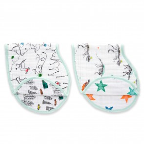 Colour Pop Classic Muslin Burpy Bibs 2 Pack by Aden and Anais