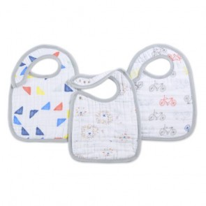Leader Of The Pack 3-pack Classic Snap Bibs by Aden and Anais