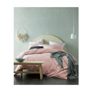 Blush Crinkle Cotton Single Quilt Cover Set by Accessorize