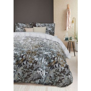 Elaina Green Cotton Sateen Quilt Cover Set by Bedding House