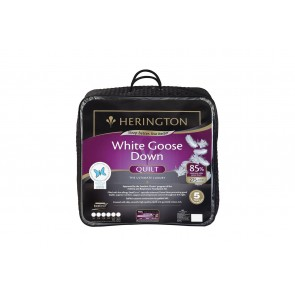 85% White Goose Down King Quilt by Herington