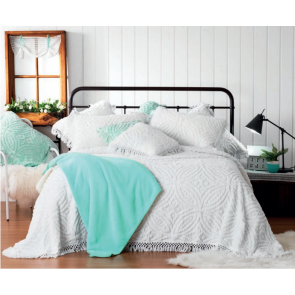 Kalia White Double Bedspreads Set by Bianca