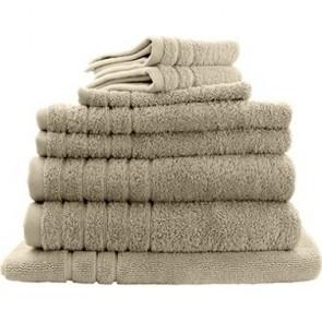 8pc Soft Egyptian Cotton Bath Towel Set in Camel