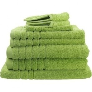 8pc Soft Egyptian Cotton Bath Towel Set in Lime