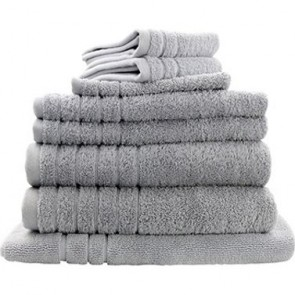 8pc Soft Egyptian Cotton Bath Towel Set in Silver