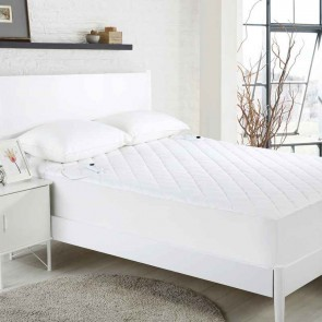 White Quilted Electric Blanket Underlay