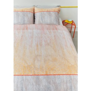 Libby Orange Cotton Sateen Quilt Cover Set by Bedding House