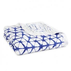 Indigo Silky Soft Bamboo Muslin Dream Blanket by Aden and Anais