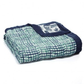 Seaport Net Silky Soft Muslin Bamboo Dream Blanket by Aden and Anais