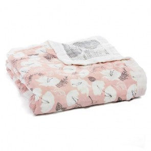 Pretty Petals Silky Soft Muslin Bamboo Dream Blanket by Aden and Anais