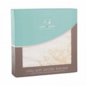 Metallic Silky Soft Bamboo Primrose Birch Stroller Blanket by Aden and Anais