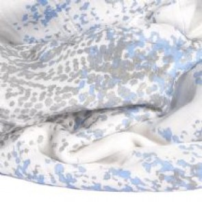 Metallic Silky Soft Bamboo Blue Moon Birch Stroller Blanket by Aden and Anais