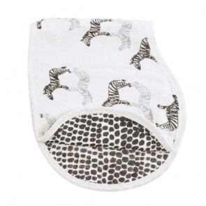 Sahara Motif-Zebra Noir Single Burpy Bib by Aden and Anais