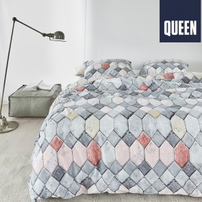 Go Grey Cotton Quilt Cover Set by Bedding House