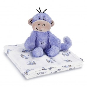 Jungle Jam Cuddly Companion Monkey Toy + Swaddle by Aden and Anais