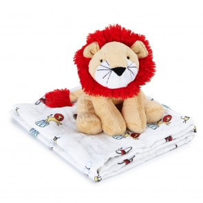 Vintage Circus Cuddly Companion Lion Toy + Swaddle by Aden and Anais