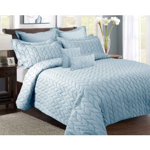 9 Pieces Ultrasonic King Comforter Set by Kingtex