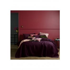 Coco Purple Velvet 3 Piece Queen Coverlet Set by Accessorize