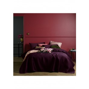 Coco Purple Velvet 3 Piece King Coverlet Set by Accessorize