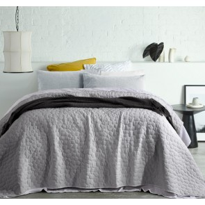 Pebble Silver Washed Queen Coverlet by Accessorize
